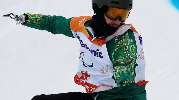 Winter Paralympics: Sean Pollard - Australian who became a Paralympic snowboarder after shark attack - BBC Sport