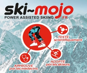 Specially developed using medical insights Ski~Mojo is a device that uses spring recoil technology to take up to a third of the strain off the legs and knees by providing kinetic energy to assist leg